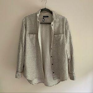 Madewell • Striped Button Up Shirt